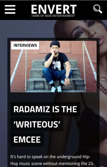 http://Read the full interview with emcee Radamiz here =>envertent.com/2gsQZyM