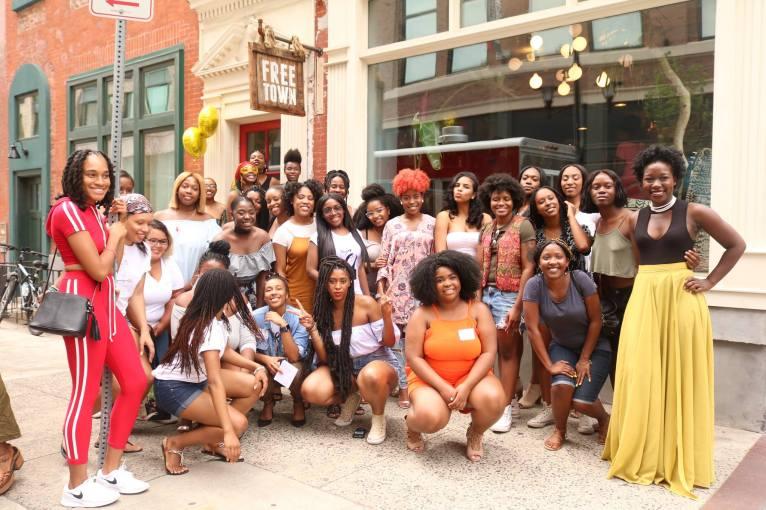 Crowd Shot Black Girl Starter Kit Interactive Workshop at Freetown Cafe in Newark NJ on 07222017 by Aziz Ramos