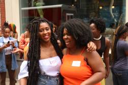 Flisadam with Black Girl Starter Kit founder NUBIAA outside the Interactive Workshop at Freetown Cafe in Newark NJ on 07222017 by Aziz Ramos